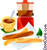EU European cuisine churros Vector Clipart illustration
