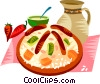 Vector Clip Art image  of a EU European cuisine couscous