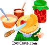 Vector Clip Art graphic  of a EU European cuisine cr�pes
