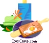 EU European cuisine cr�pes Vector Clipart picture