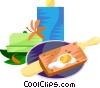 EU European cuisine cr�pes Vector Clipart image