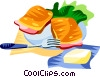 Vector Clipart graphic  of a EU European cuisine croque