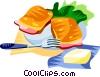 Vector Clip Art graphic  of a EU European cuisine croque