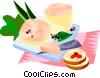 Vector Clip Art image  of a EU European cuisine foie gras