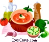 EU European cuisine gazpacho Vector Clipart graphic