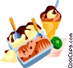 Vector Clipart picture  of a EU European cuisine gelato