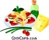 EU European cuisine lasagna Vector Clipart graphic