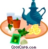 Vector Clipart graphic  of a EU European cuisine mint tea