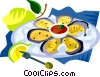 Vector Clipart graphic  of a EU European cuisine oyster