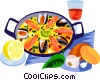 Vector Clip Art graphic  of a EU European cuisine paella
