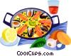 Vector Clip Art graphic  of a EU European cuisine paella