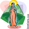 Religious Holidays Spain Mexico Virgin Mary Vector Clipart picture