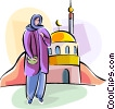 Vector Clip Art image  of a Religious Holidays UK Arab