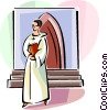 Religious Holidays France Communion Boy Vector Clipart picture