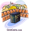 Religious Holidays Arab region Kaabah Vector Clipart picture