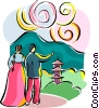 Vector Clipart image  of a Religious Holidays Korea