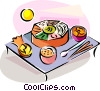 Religious Holidays Korea Food Vector Clipart illustration