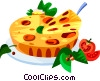 Vector Clipart picture  of a EU European cuisine quiche