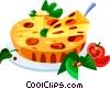 EU European cuisine quiche Vector Clip Art image