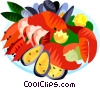 Vector Clipart graphic  of a EU European cuisine sea food