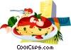 Vector Clip Art image  of a EU European cuisine spaghetti