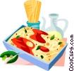 EU European cuisine spaghetti Vector Clip Art picture
