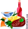 Vector Clip Art graphic  of a EU European cuisine steak
