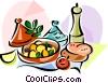 EU European cuisine tajine Vector Clipart image