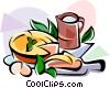EU European cuisine tarte tatin Vector Clipart graphic