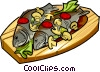 Vector Clip Art picture  of a Russian cuisine fish with