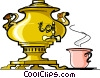 Russian cuisine samovar Vector Clip Art graphic