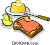 Vector Clipart image  of a Russian cuisine sandwich with salmon