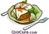 Russian cuisine cabbage with minced meat Vector Clipart illustration