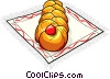 Russian cuisine Easter cake Vector Clip Art picture