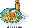 Vector Clip Art graphic  of a Russian cuisine macaroni -
