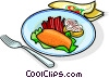 Vector Clip Art graphic  of a Russian cuisine garnished
