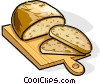 Russian cuisine Russian bread Vector Clipart graphic