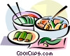 Vector Clip Art picture  of a Korean cuisine Kimchi