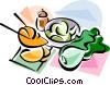 Korean cuisine Kimchi Vector Clip Art graphic