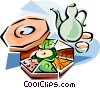 Korean cuisine Kujolpan Vector Clipart picture