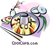 Vector Clipart graphic  of a Korean cuisine Shinsolo BBQ