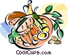 Vector Clipart graphic  of a Bacalhau