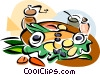 Bacalhau, Portuguese salted codfish Vector Clipart illustration
