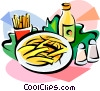 Vector Clip Art image  of a French fries with salt