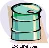 Vector Clip Art picture  of a Barrels