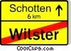Vector Clipart image  of a German road sign
