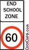 Vector Clip Art graphic  of an Australian road sign