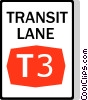 Australian road sign, Transit Lane Vector Clip Art picture
