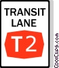 Australian road sign, Transit Lane Vector Clipart illustration