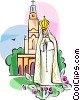 Portugal Religious icon Our Lady of Fatima Vector Clipart illustration